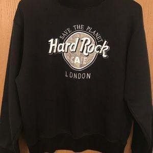 Hard Rock crewneck sweatshirt.